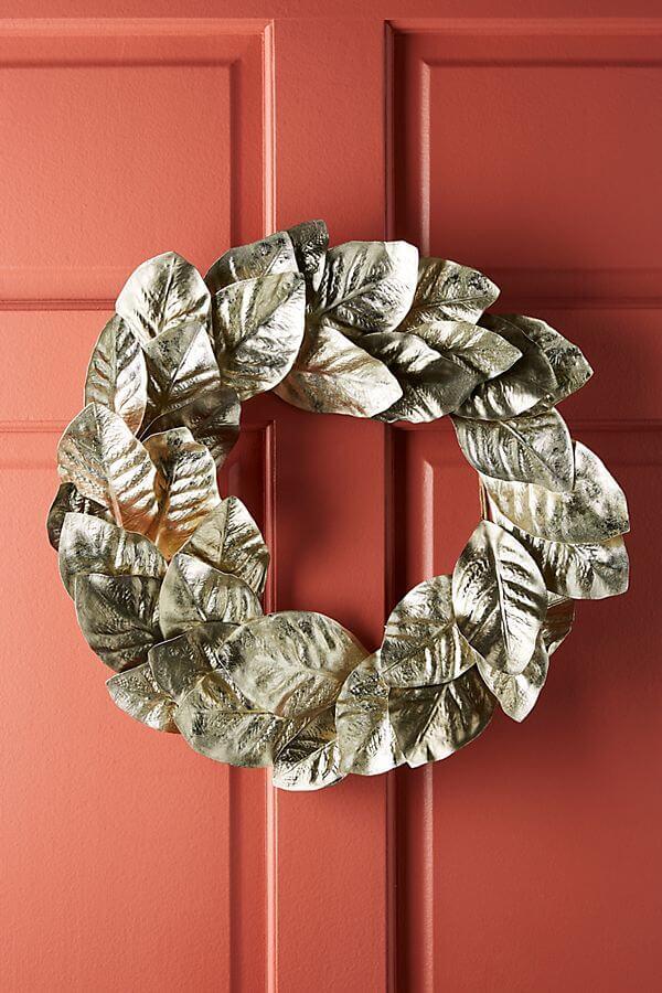 Metallic Foliage Wreath - #98.00