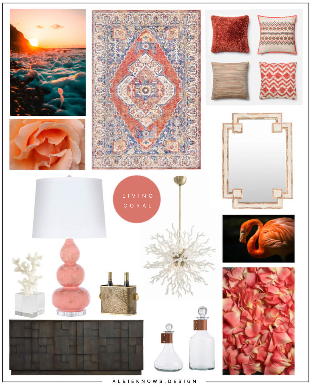 Albie Knows Pantone 2019 Color of the Year Living Coral