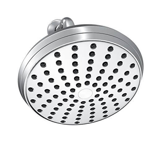 """Chrome Finish Luxury Large 6"""" Rainfall Shower Head by A-Flow"""