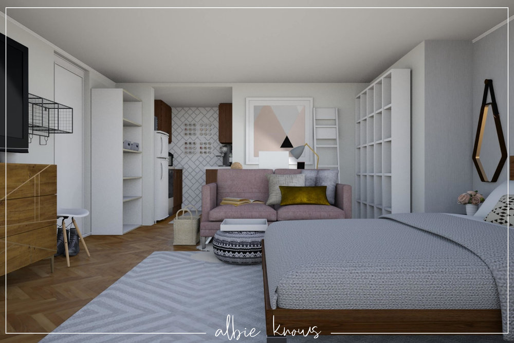 Rendered Concept | Big Style in A Small Brooklyn Studio