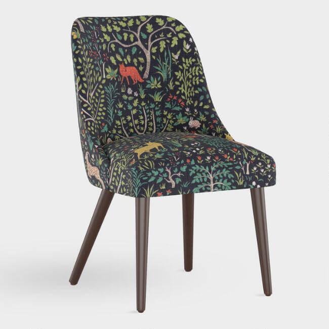 Folkland Linen Kian Upholstered Dining Chair