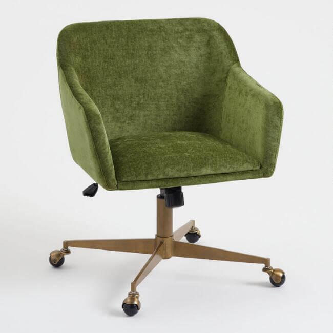 Warm Green Mid Century Zarek Office Chair