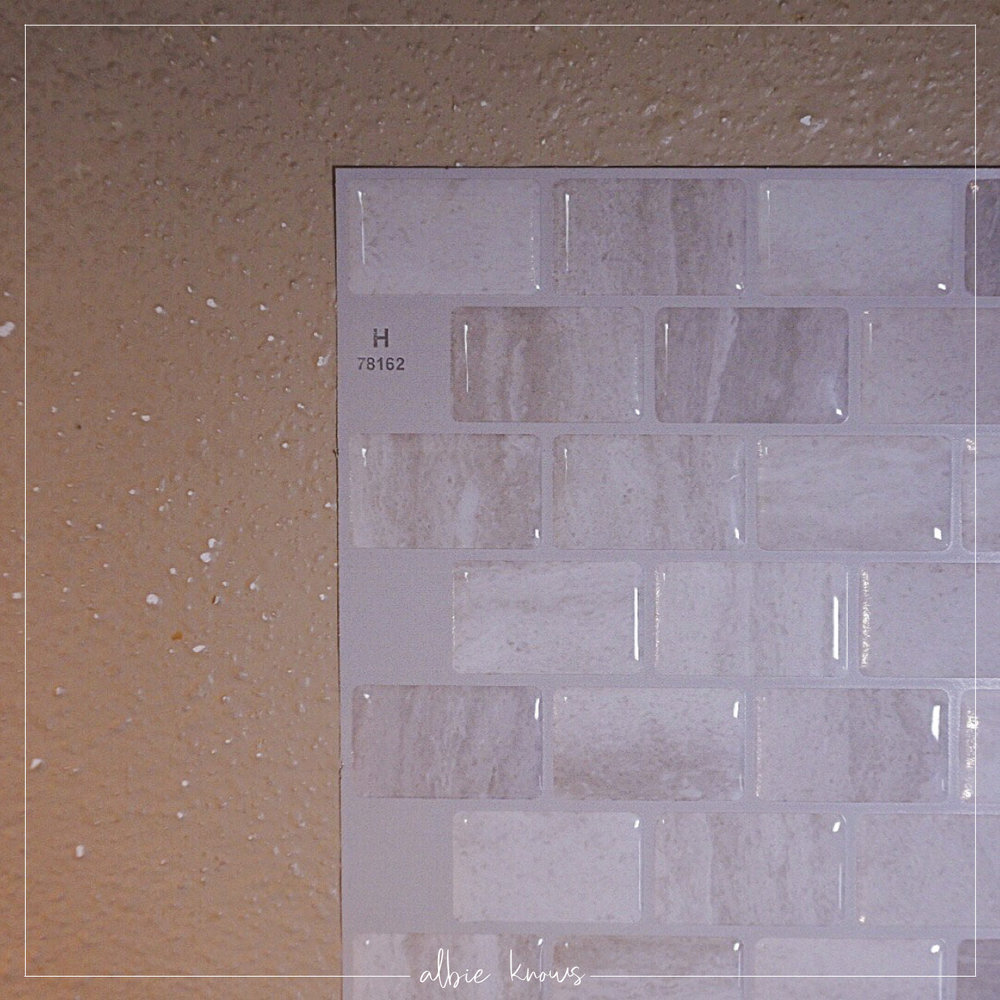 Renter Friendly Kitchen Backsplash with The Smart Tiles