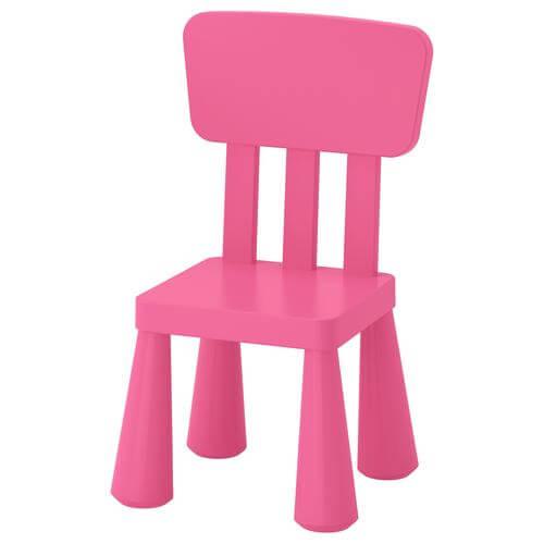 Mammut Children's Chair in Pink | IKEA