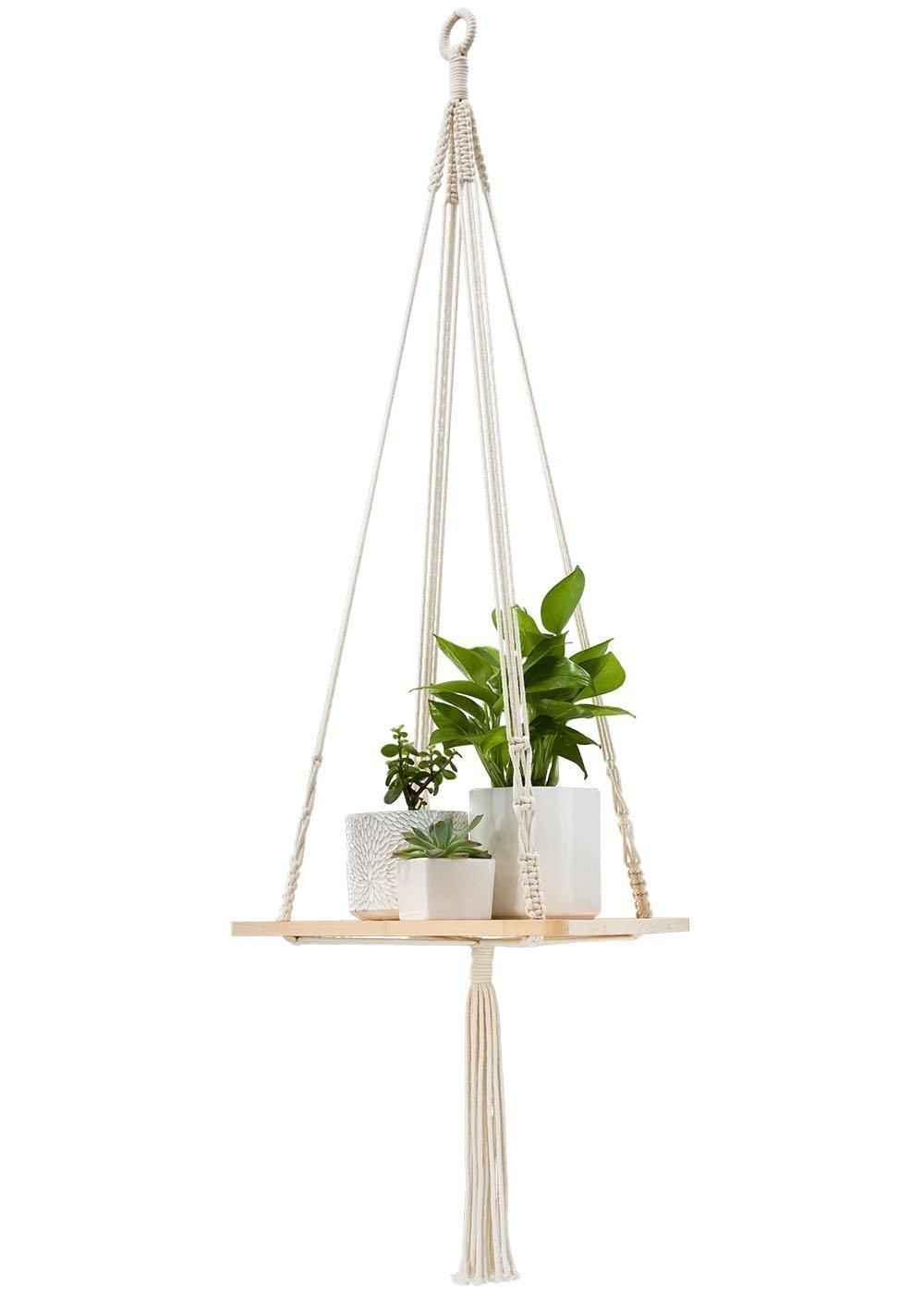 Macrame Hanging Shelf | Amazon