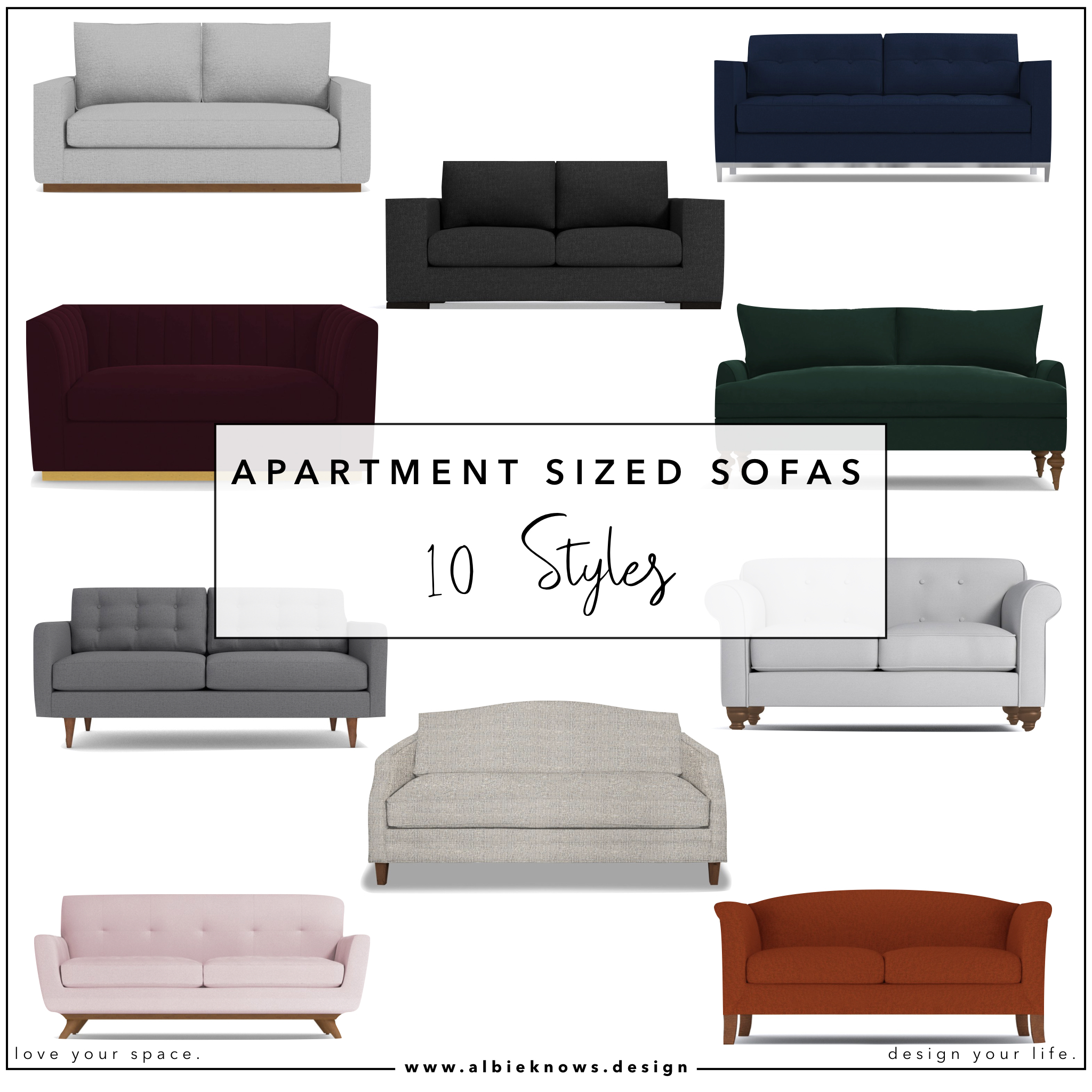Apartment Sized Sofas in Every Style by Albie Knows Interior ...