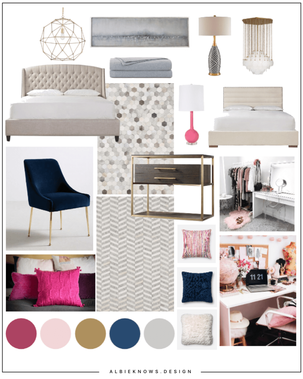 Colorfully Chic Bedroom - A colorful yet chic & inviting design, anchored by cozy textures with pops of color, creating a space that inspires rest without sacrificing style.