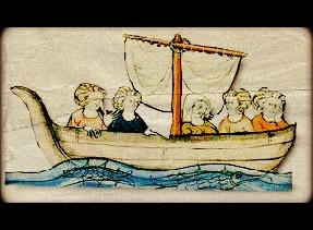 pilgrims in boat