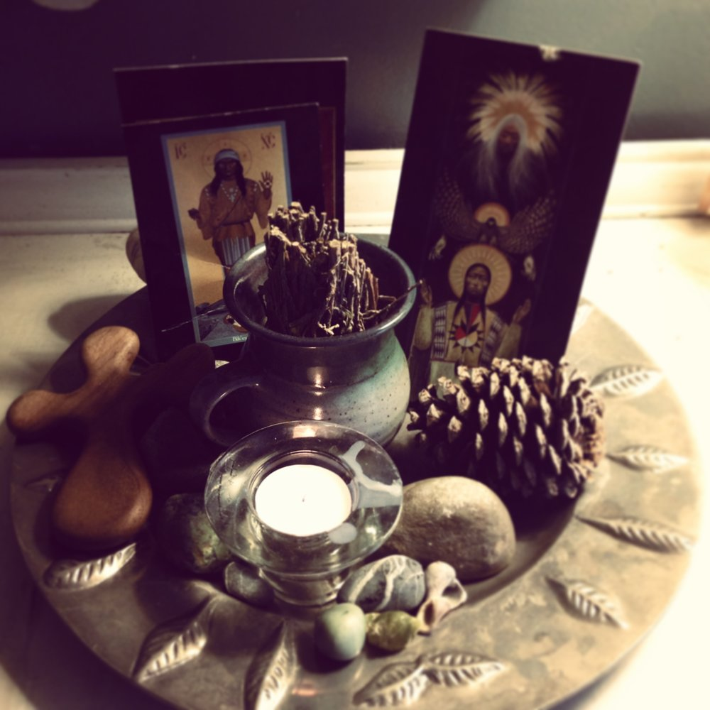 My personal altar to honor the life of richard twiss
