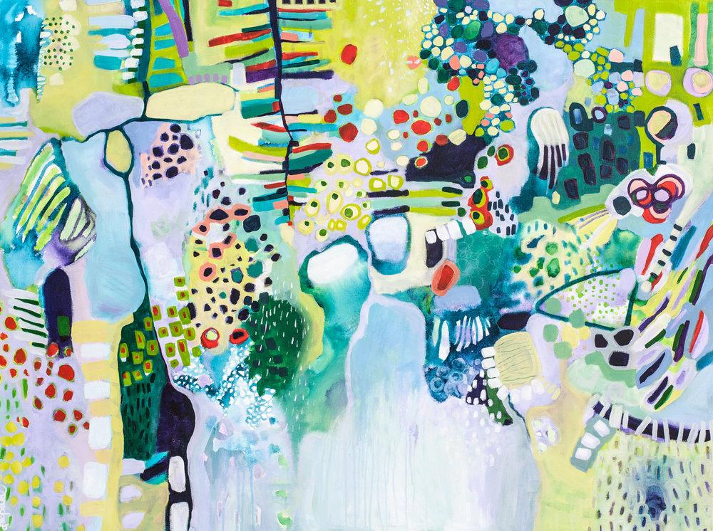 Sea of Life, 2017, 91 x 122 cm, acrylic on canvas