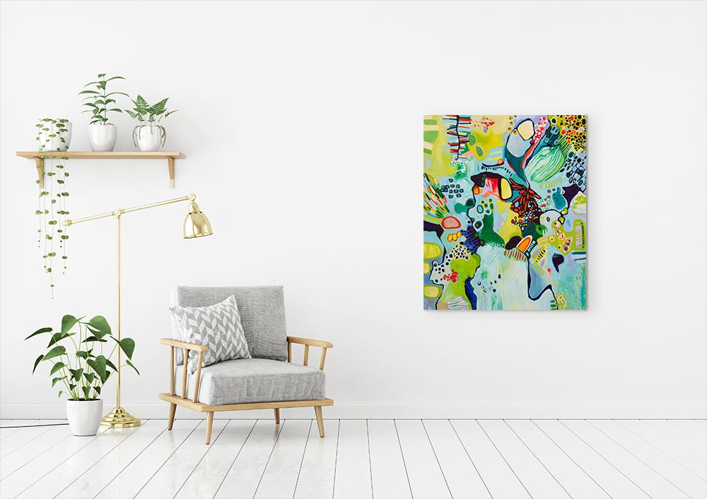 """""""Abundance"""", acrylic on canvas, 102cm by 122cm"""
