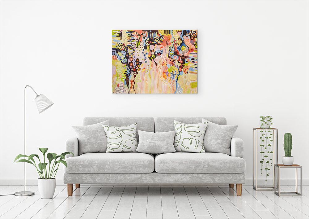 """Spring into Life"", acrylic on canvas, 122cm by 91cm"