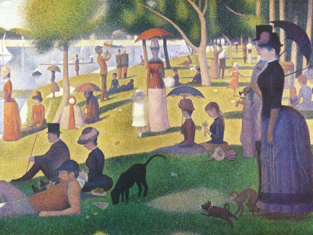 大傑特島的星期日下午 / 秀拉 / 芝加哥藝術博物館 /  圖片來源  Un dimanche après- midi à l'Île de la Grande Jatte,1884 /Georges-Pierre Seurat