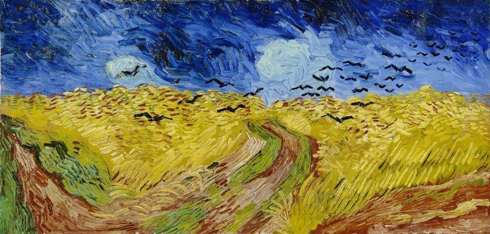 麥田群鴉/梵谷/ 梵谷博物館館 /  圖片來源  Wheatfield with crows, 1890 / Vicent van gogh