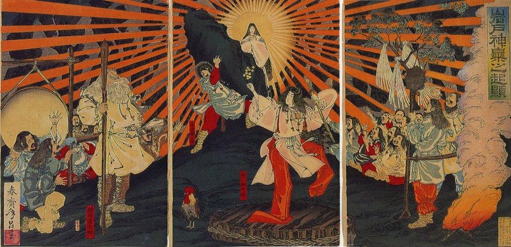 春齋年昌/1887年/讓世界恢復光明的天照大御神出天岩戶/ 圖片來源