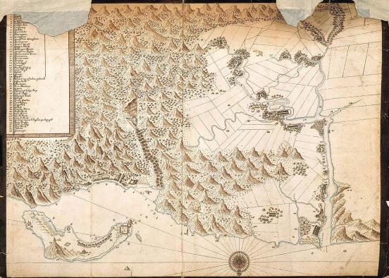 都市更新要帶往哪裡?懷舊的 1654年台北地圖 。