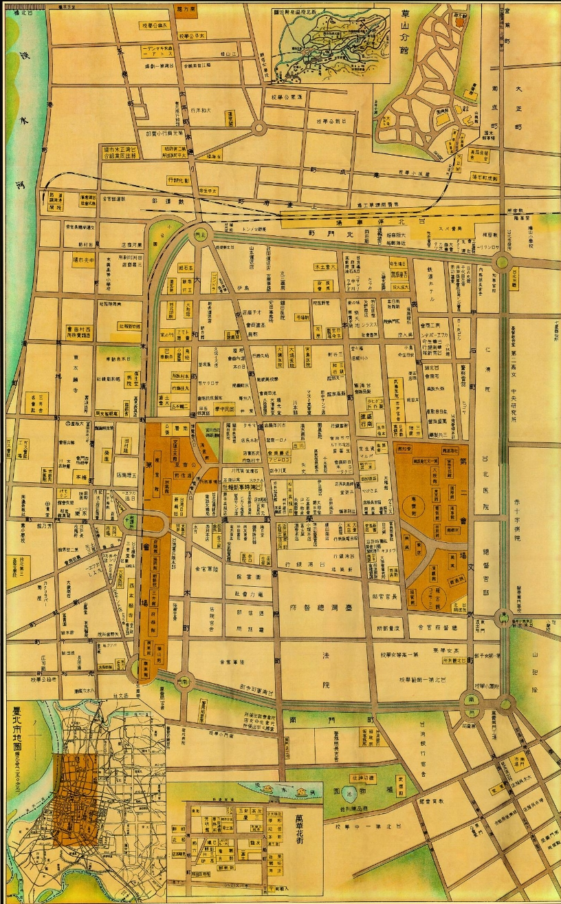 台北1935地圖 ,抑或排排站的未來城市榮景?