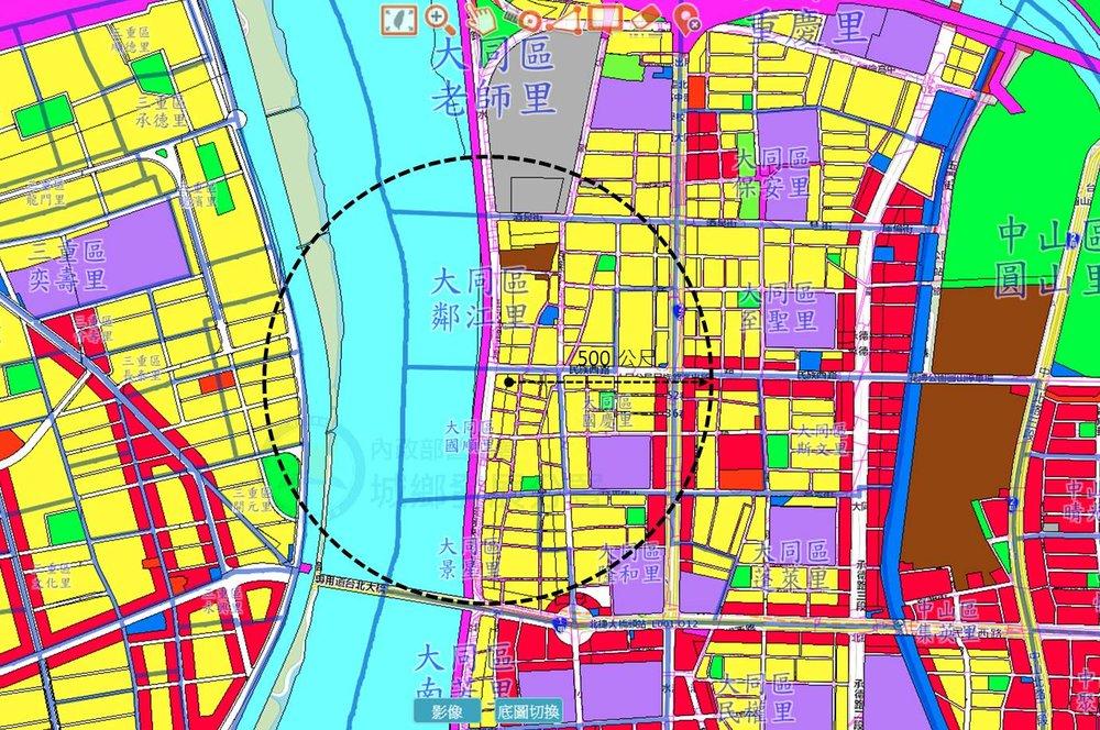 大同橋北使用分區圖