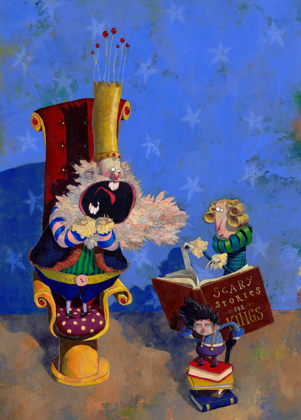 CHILDREN'S BOOK FESTIVAL POSTER ARTWORK for Childrens' Books Ireland  Acrylic on Card