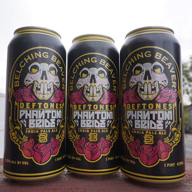 NEW BEER🚨: @belchingbeaver Deftones Phantom Bride IPA with an ABV of 7.1% and IBU of 70, this IPA is a blend of Amarillo, Citra, Simcoe and Mosaic hops with a nice balance of citrus and hoppy goodness! 😋  #belchingbeaver #deftones #phantombride #ipa #craftbeer #local #sandiego #gethighandcomeby #hops #amarillo #citra #simcoe #mosaic #citrus #hoppybeer