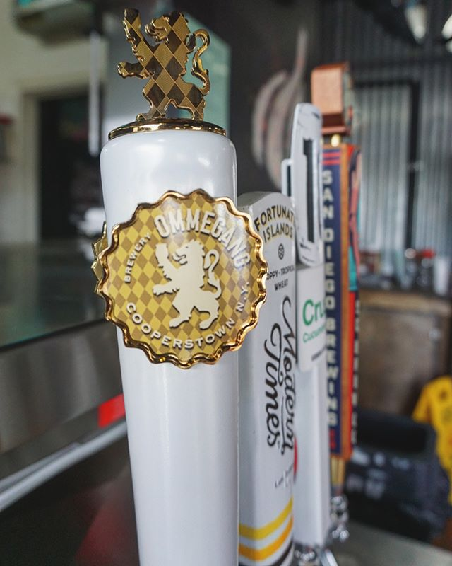 """Newly tapped🚨: @breweryommegang Hennepin is a farmhouse saison at an ABV of 7.7% and an IBU of 24 is """"brewed with grains of paradise, coriander, ginger, and sweet orange peel that makes this a heart and rustic golden ale that's full bodied, hoppy, and crisp""""  The flavor experience of the beer work great with the Asian influence on our menu!  #ommegangbrewing #hennepin #farmhousesaison #dankness #gethighandcomeby #sandiego #craftbeer #localtomyhouseinjersey #hoppy #crisp"""