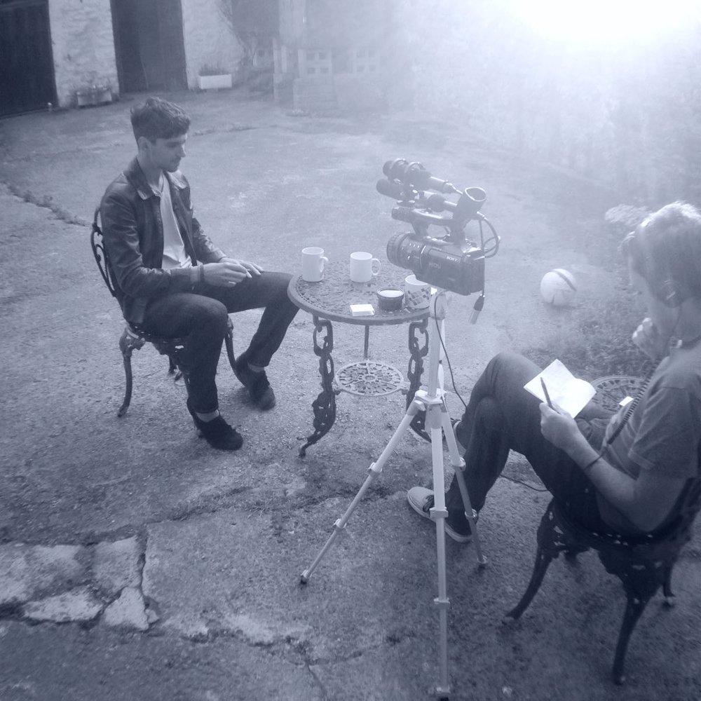 Filming LHR in Rockfield Studios.