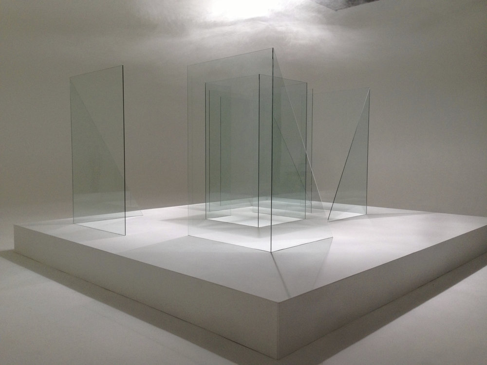 Reflective 1, glass, 2013 . Dimensions 8m x 4m x 3m.