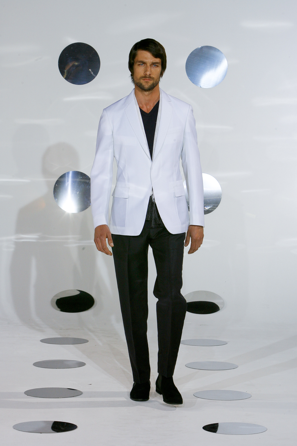 Paris fashion show, unstructured jacket.
