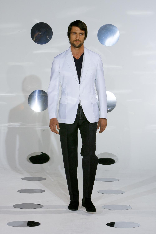 Paris fashion show, unstructured jacket.