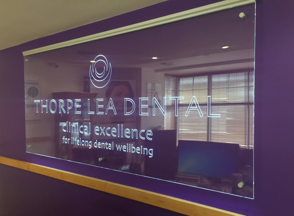 Reception sign at Thorpe Lea Dental.jpg