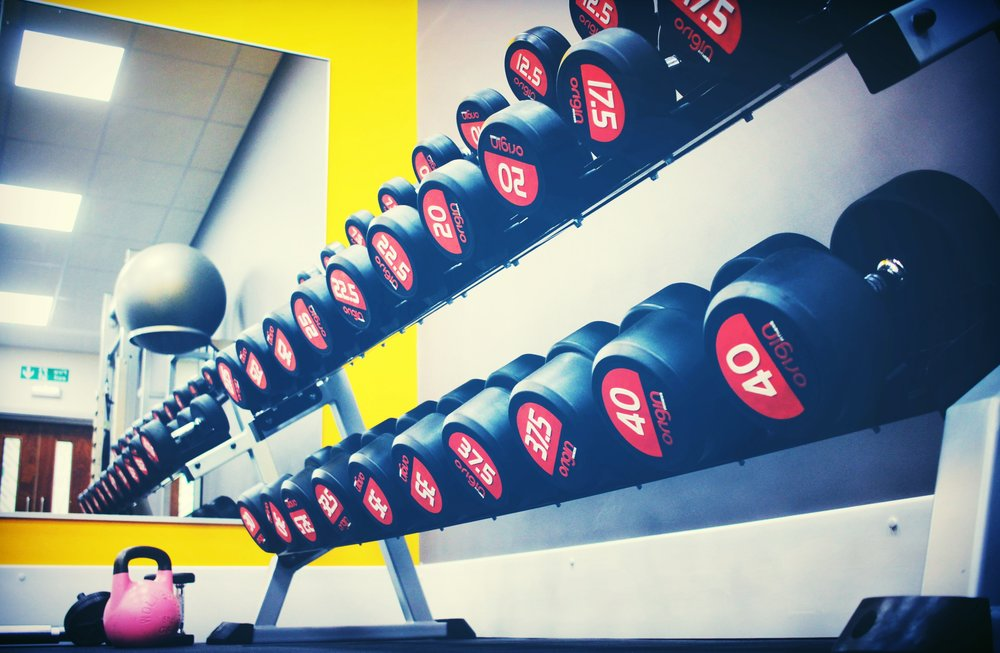 A lot of women avoid the dumbbell rack and use small vinyl weights