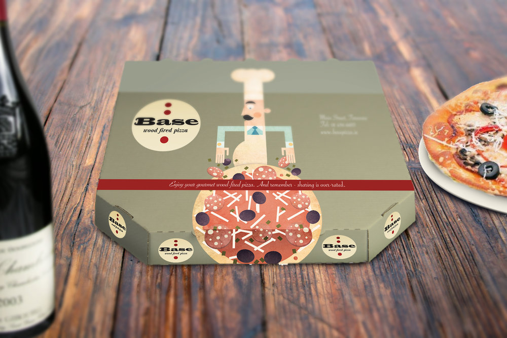 BASE PIZZA: ART DIRECTION / DESIGN / ILLUSTRATION