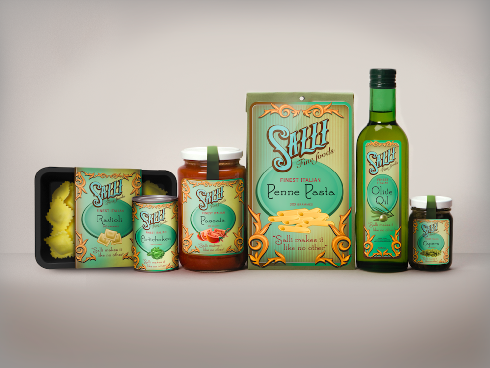 SALLI FOODS: ART DIRECTION / DESIGN / ILLUSTRATION