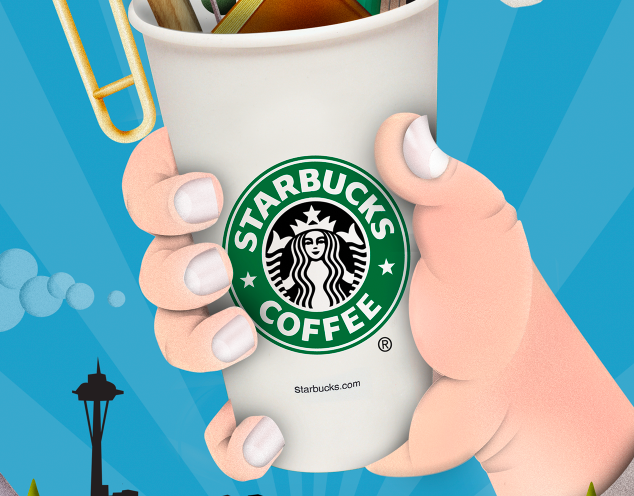 STARBUCKS: ILLUSTRATION  VIEW PROJECT >>