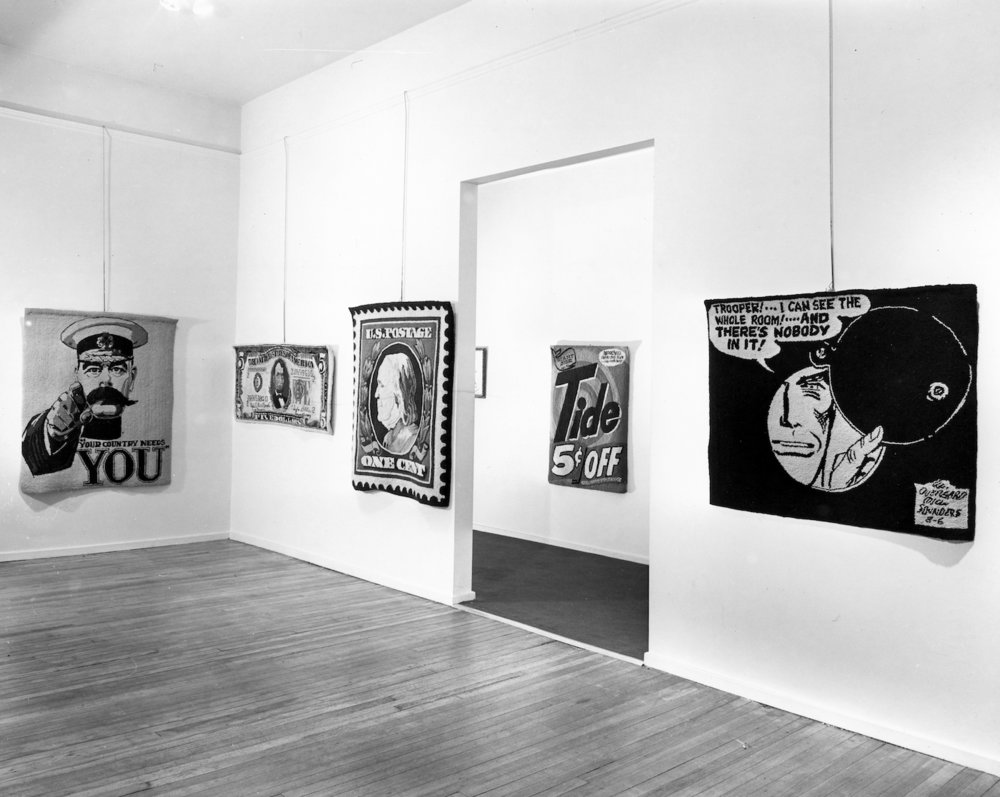 Odd Man In , installation at Allan Stone Gallery, 1964