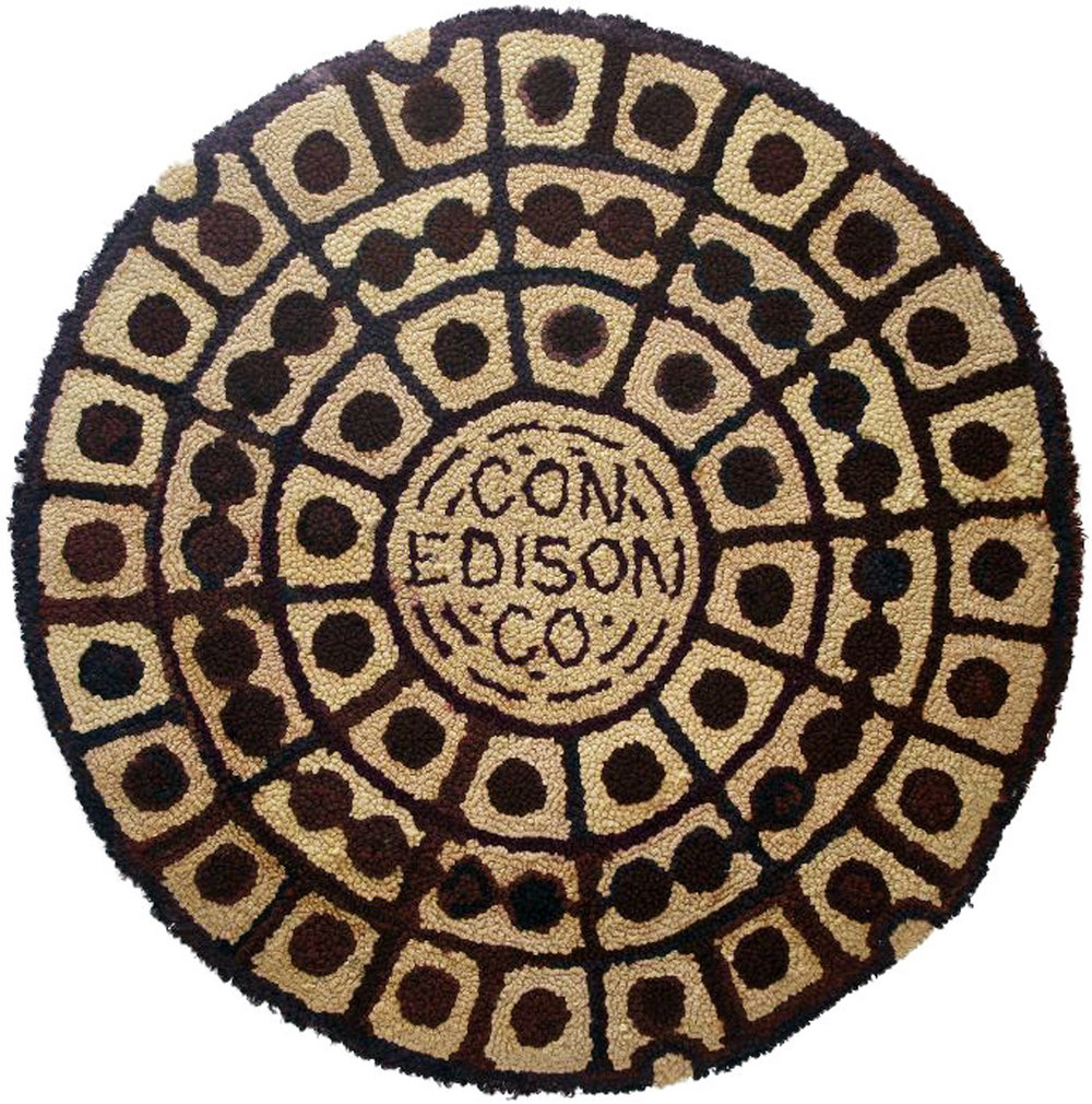 "Dorothy Grebenak, ""Con Edison Co."" (1963), wool, 31 1/2 x 31 1/2 in."