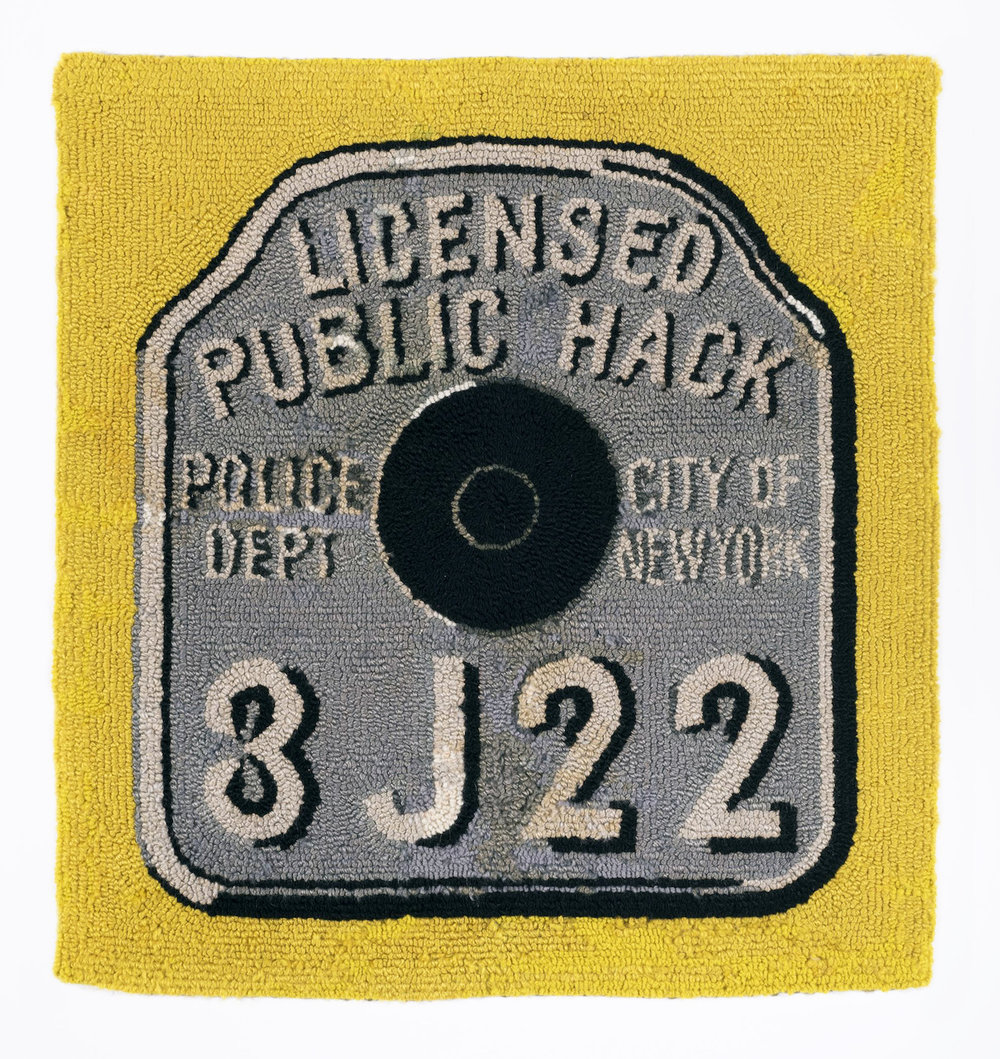 "Dorothy Grebenak, ""Licensed Public Hack"" (circa 1960s), wool, 30 x 28 1/2 in."