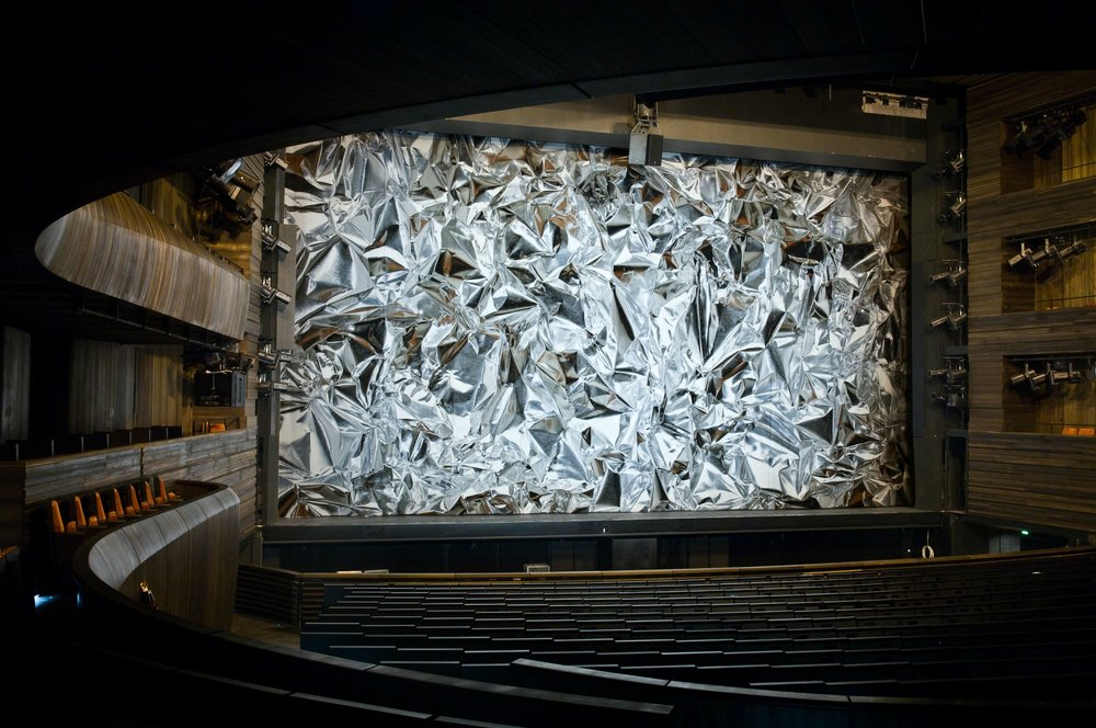 Fig 1 - Stage curtain for the Oslo Opera House, 2011