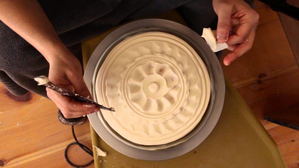 "Screen shot of Ayumi Horie's video ""White Pots."""