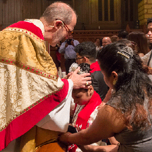 Confirmation / Reception - Confirmation represents a mature commitment to fulfilling the vows of one's baptism. In this ancient ritual, the bishop lays hands on the Christian and calls upon the Holy Spirit to strengthen him or her with gifts to sustain the Christian's mature life of faith. A person who has already been confirmed in the Roman Catholic Church or one of the Orthodox Churches is