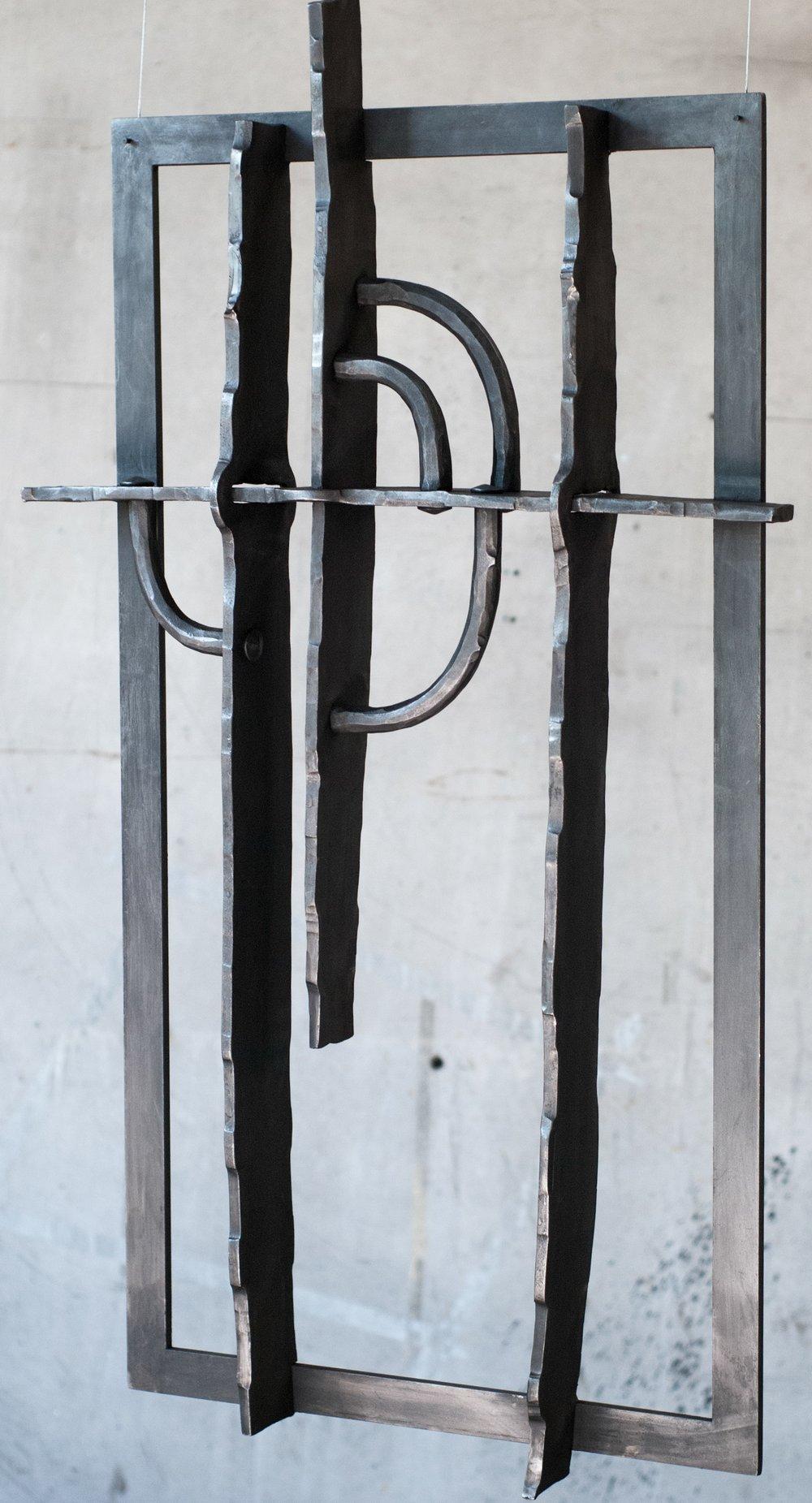 Lind Smide & Metallgestaltning. Galler designat med utgångspunkt i den sena nordiska renässansens formspråk och smidestekniker.