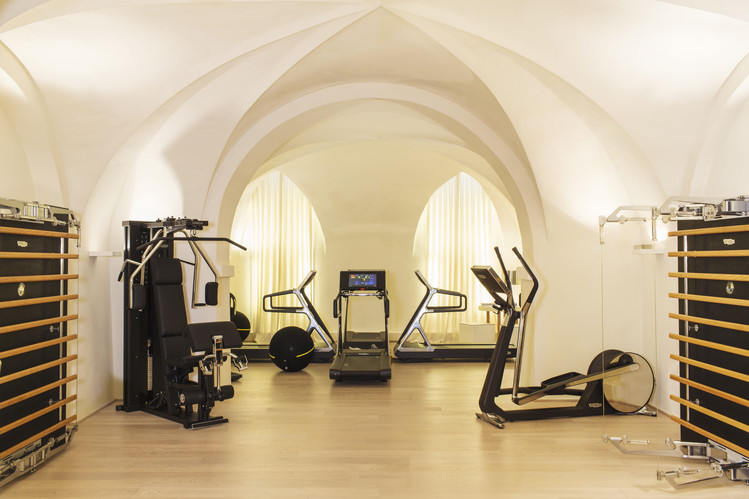 Nerio Alessandri's gym at his home in Cesena, Italy. PHOTO: MARCO ONOFRI FOR THE WALL STREET JOURNAL