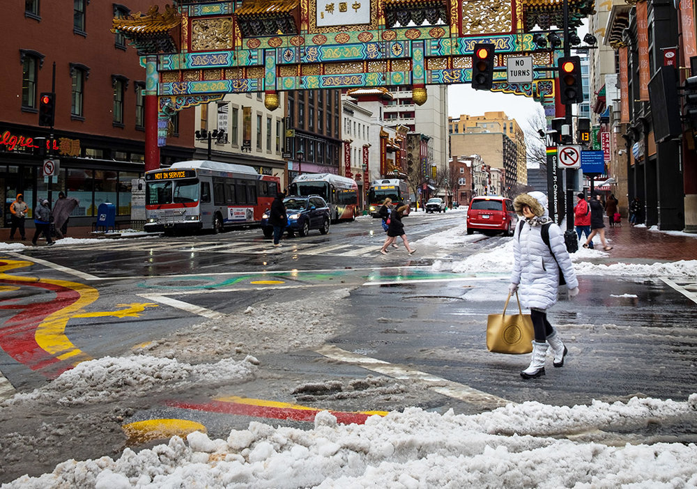Snowy Day in Chinatown