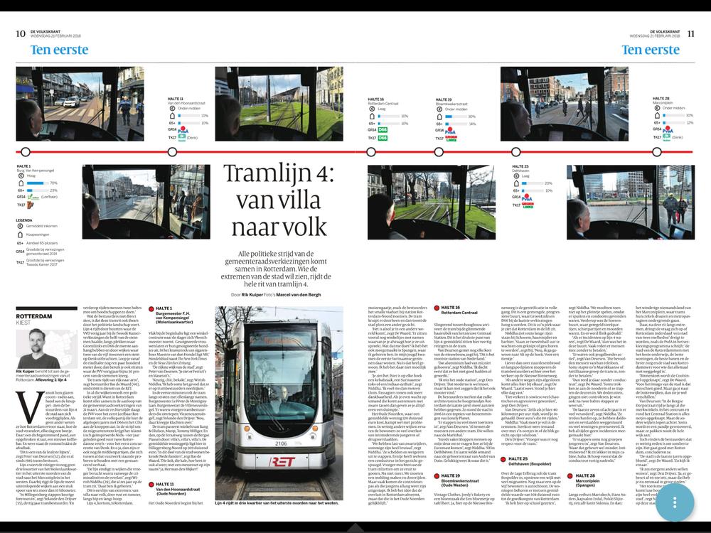 artikel volkskrant tramlijn 4