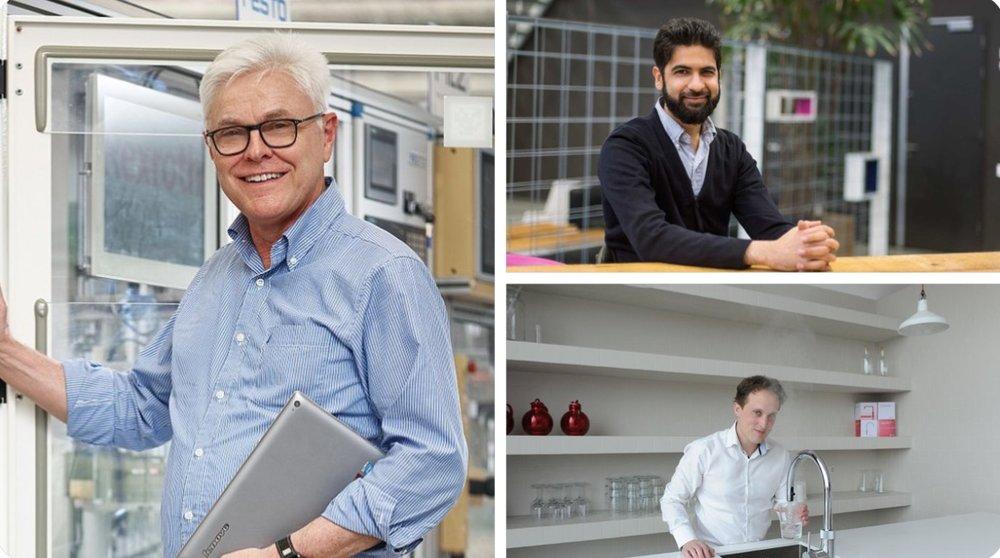 Detlef Zühlke , Gaurav Genani, en Geertjan Woltjes