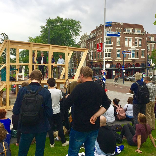 Opening @straatkijkers  met @zigzagcity_rotterdam route naar Delfshaven en M4H #West #Marconiplein @dakparkrotterdam #rotterdam