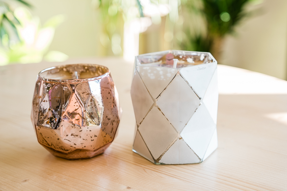 Sweet Grace Geometric Candles  - $28
