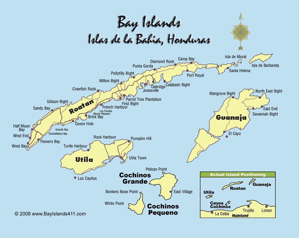 bay islands map