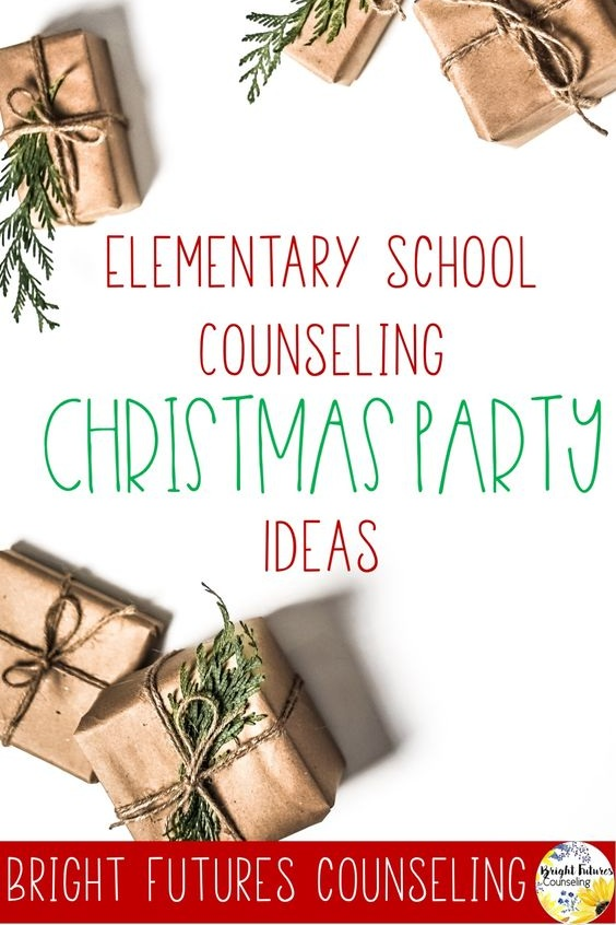 How to plan an elementary school counseling Christmas or holiday party. Includes ideas for activities, crafts, snacks, and games. #brightfuturescounseling #elementaryschoolcounseling #elementaryschoolcounselor #schoolcounseling #schoolcounselor #schoolchristmasparty #schoolholidayparty #elementaryschoolchristmasparty #elementaryschoolholidayparty