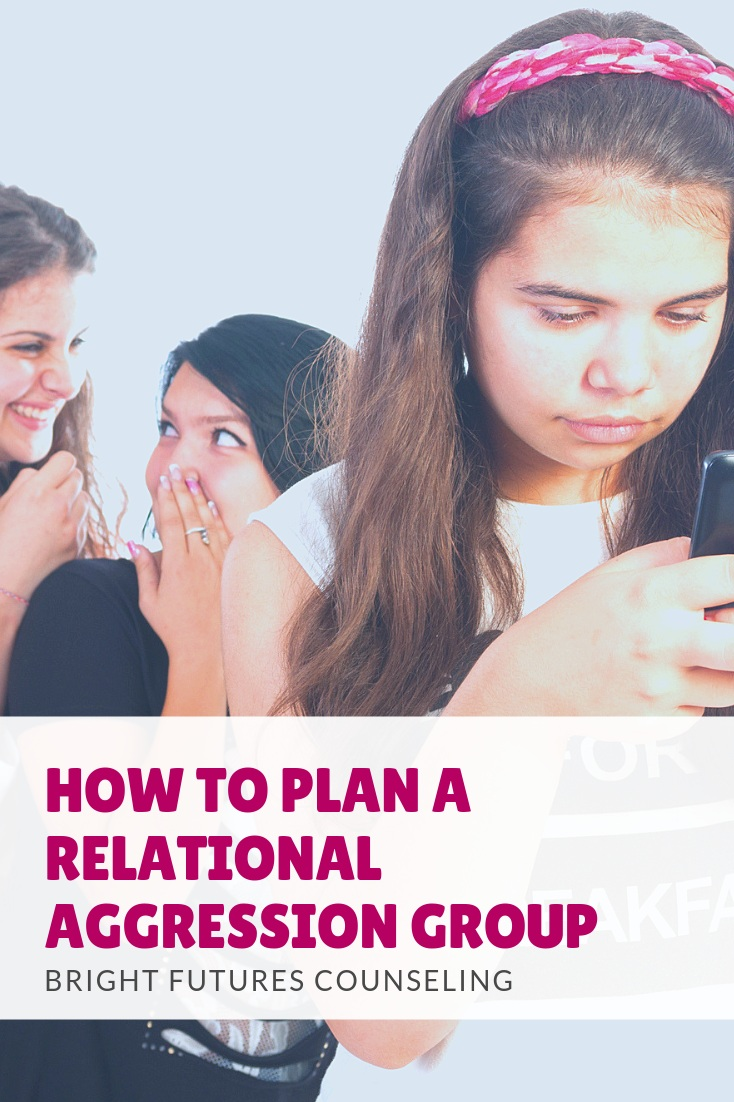 Plan a relational aggression small group for elementary girls with these tips. This blog post for elementary school counselors shares who should be in your group, suggested activities, and resources for identifying, self-reflecting, and cooperating to prevent relational aggression and girl bullying. It also covers data collection and how to take preventative measures. #brightfuturescounseling #elementaryschoolcounseling #elementaryschoolcounselor #relationalaggression #girlbullying